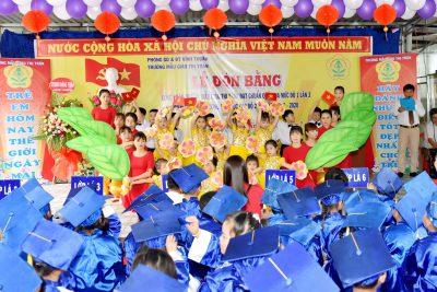Lễ đón bằng công nhận trường mẫu giáo thị trấn đạt chuẩn quốc gia mức độ 1 lần 3